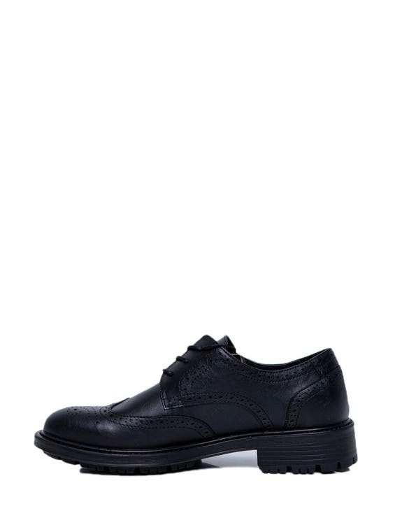 Leather Pattern Lace Up Shoes