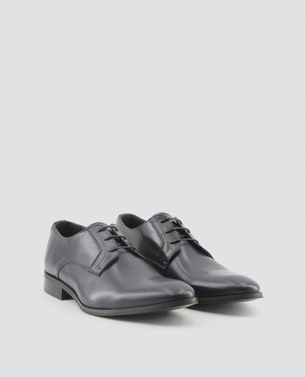 Blue Florent Pointed Toe Lace Up Shoes