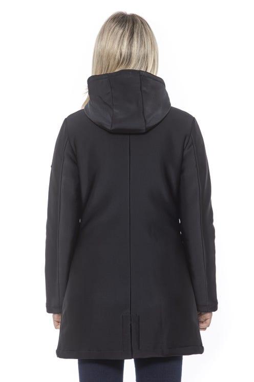 Hoodie Zipper Long Hem Jacket