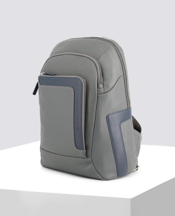 Grey Contrast Panel Backpack