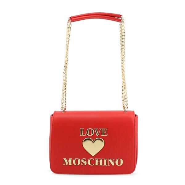 Red Magnetic Clasp Shoulder Bag