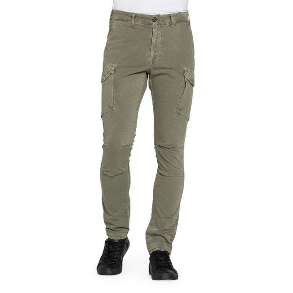 Green Side Pocket Slim Fit Trouser