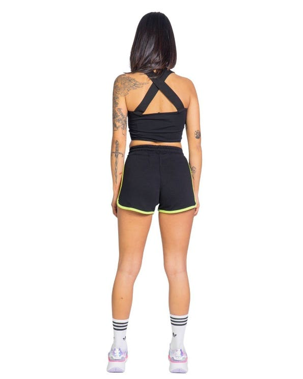 Drawstring Waist Elastic Shorts