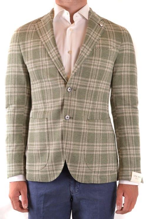 Checkered Collar Long Sleeve Blazer