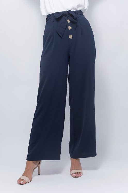 Buttoned High Waisted Pants