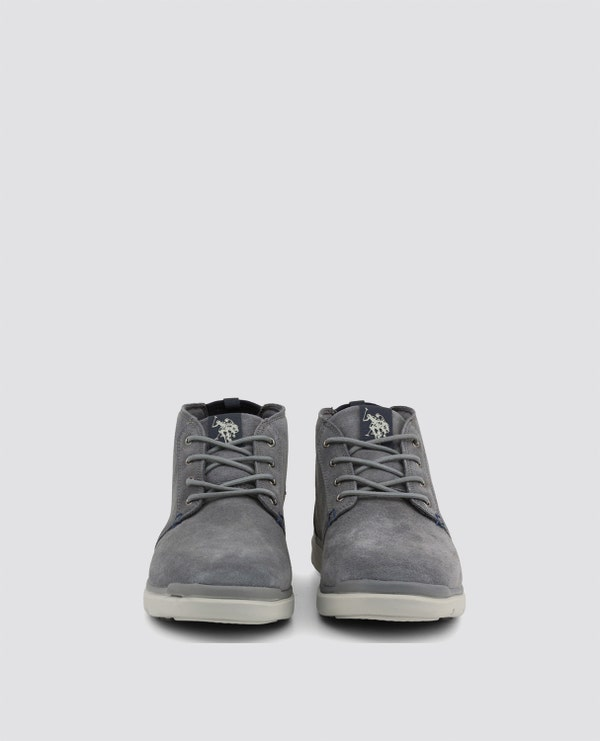 Grey Ygora Perforated Casual Lace Up