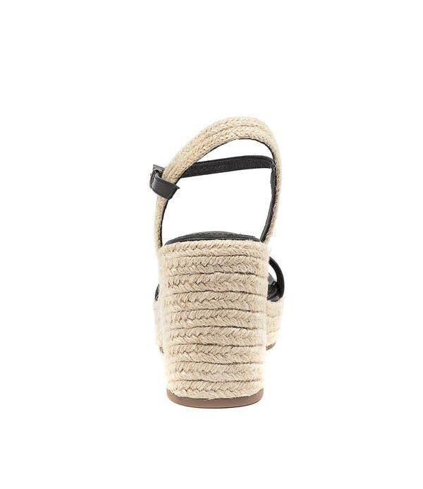 Black Caspa-Mo Wedge Sandals