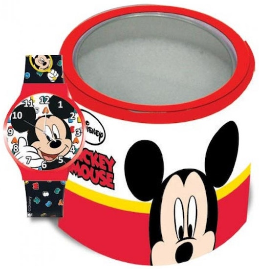 Red Micket Mouse Plastic Strap Analog Watch