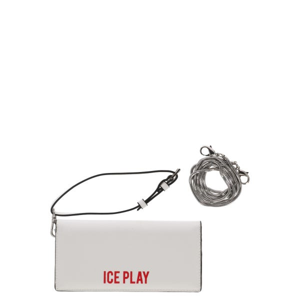 White Leather Flap Button Wallet