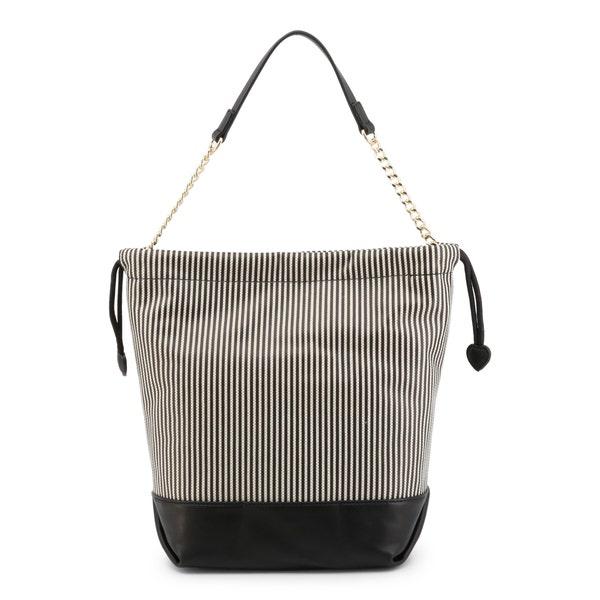 Black Love Print Zip Shoulder Bag