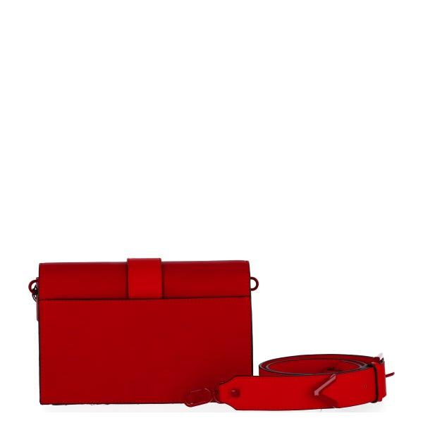 Hook Button Flap Leather Belt Bag