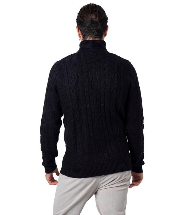 Turtleneck Long Sleeve Pattern Knitwear