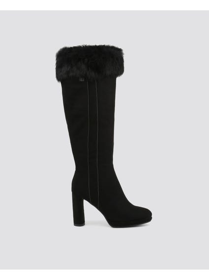 Micro Fur High Knee Boots