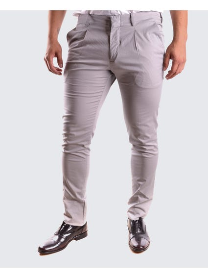 Grey Plain Skinny Trouser