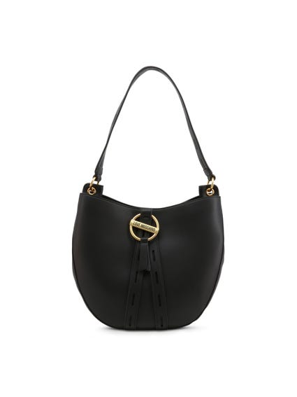 Black Magnetic Buckle Shoulder Bag