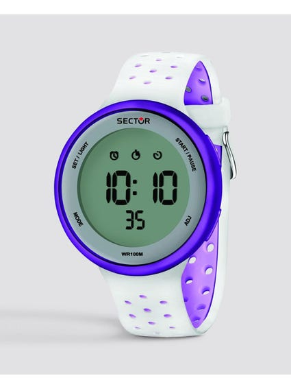 White Digital Silicone Watch