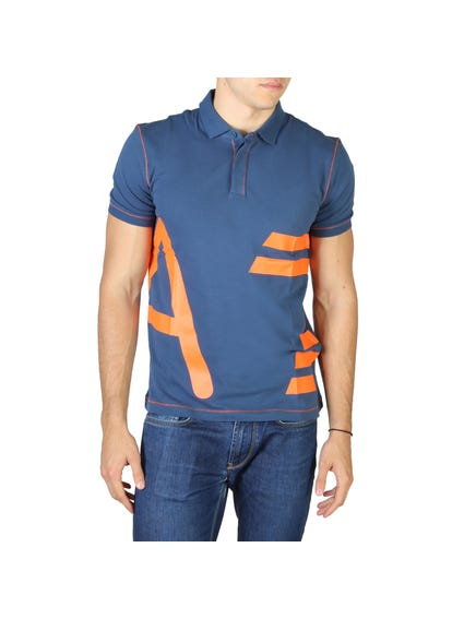 Collar Neck Graphic Polo Shirt
