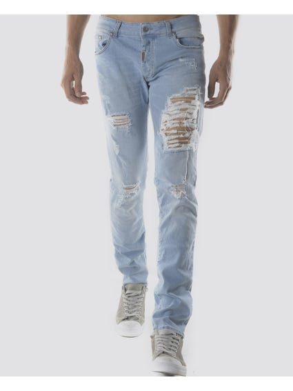 Ripped effect Slim Fit Jeans