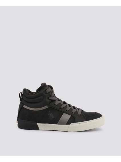 Black Arman Two Tone High Cut Sneakers