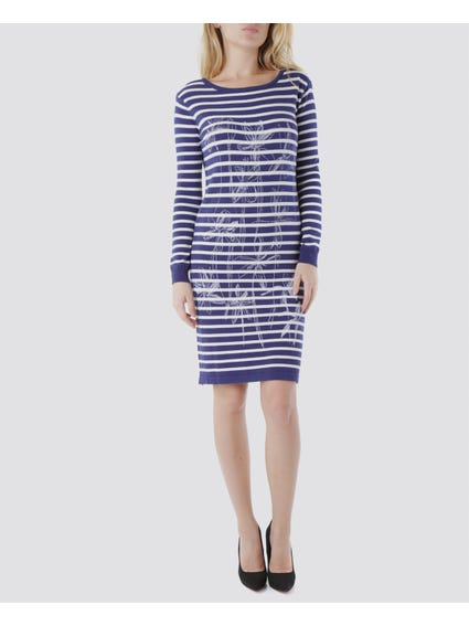 Long Sleeves Striped Dress