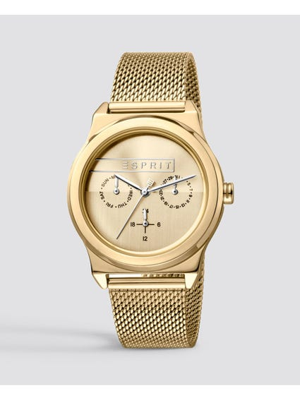 Gold Magnolia Stainless Steel Watch