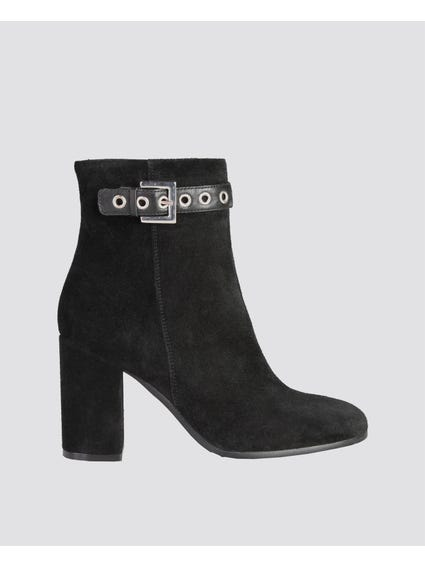Black Isabella Zip Ankle Boots