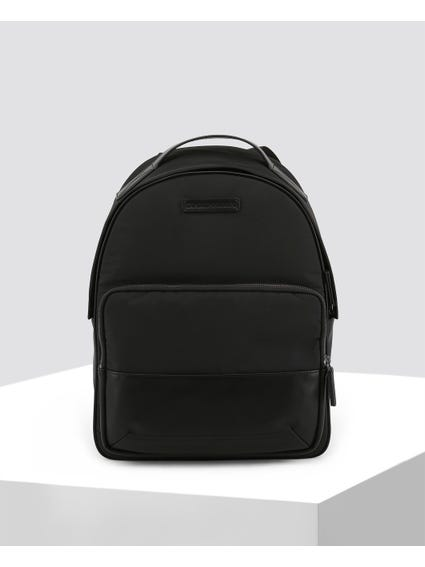 Black Plain Rucksack Bag