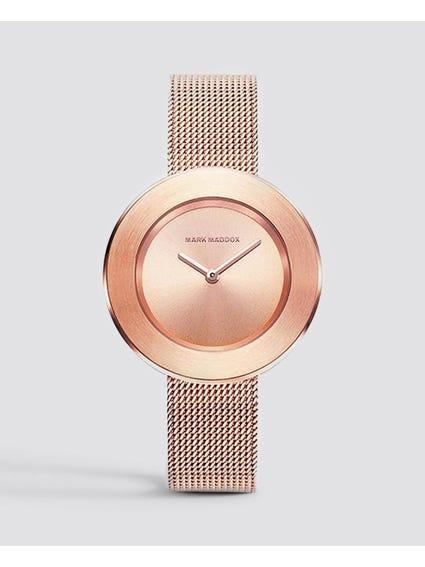 Rose Gold Dual Arm Mesh Watch