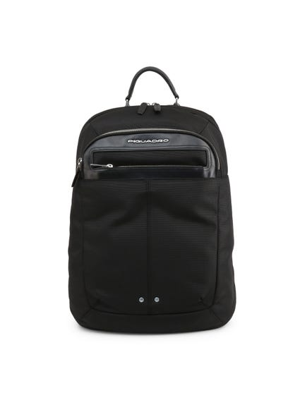 Black Zipper Fabric Backpack