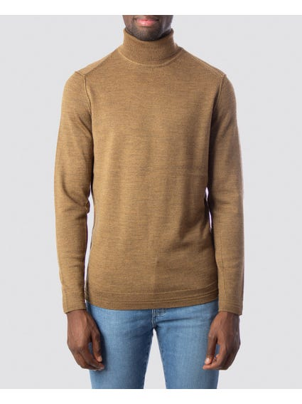 Roll High Neck Knit Sweater