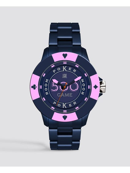 Blue Pink Poker Quartz Watch