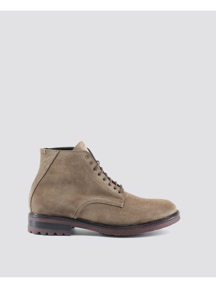Taupe Gabrielle Cleated Block Heel Boots