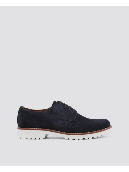 Navy Il-Cielo Lace Up Shoes