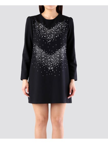 Black Embellished  Dress
