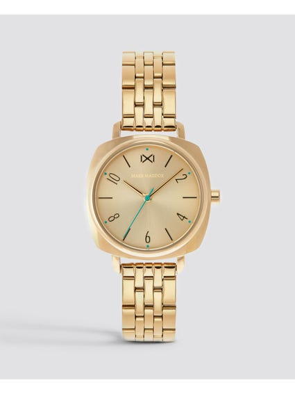Gold Analog Stainless Steel Watch