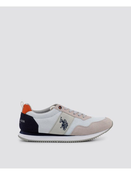 White Nobil Cleated Sole Sneakers
