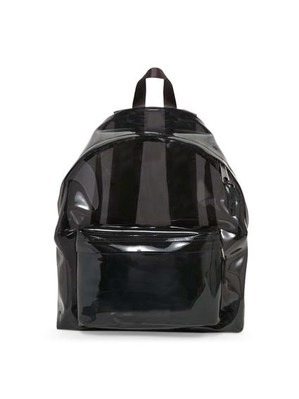 Black Patent Zip Backpack