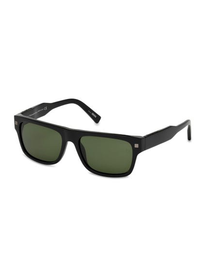 Black Solid Arms Sunglasess