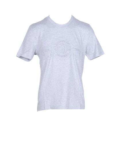 Grey  Crew Neck Logo T-shirt