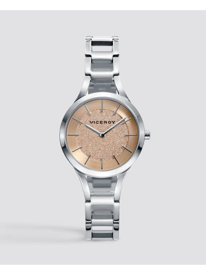 Chic Gold Dial Stainless Steel Watch
