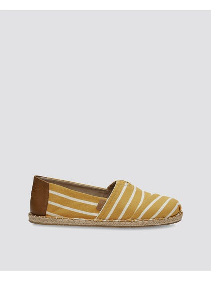 Yellow Alpr Stripe Espadrille