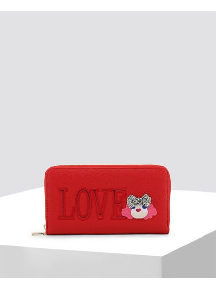 Red Love Embellished Wallet