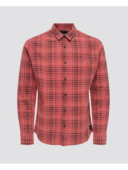 Checked Long Sleeve Shirts