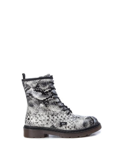Snake Print Lace Up Boots