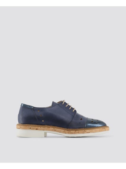 Blue Letizia Lace Up Shoes