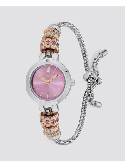 Rose Dial Analog Bracelet Watch