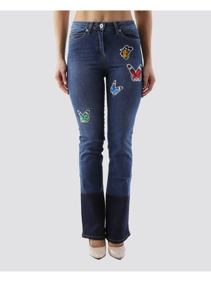 Butterfly Patch Bell Jeans