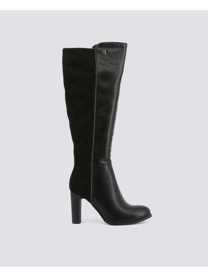 Side Zipper High Knee Boots