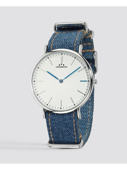 Reppy Jeans White Dial Watch