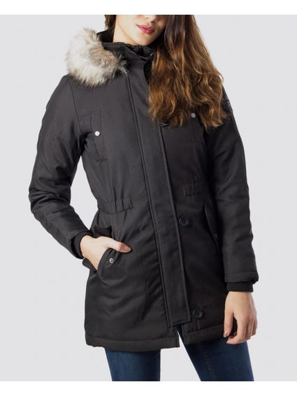 Black Fur Collar Parka Jackets